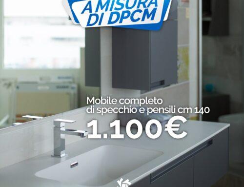 Mobile bagno con specchio e pensili