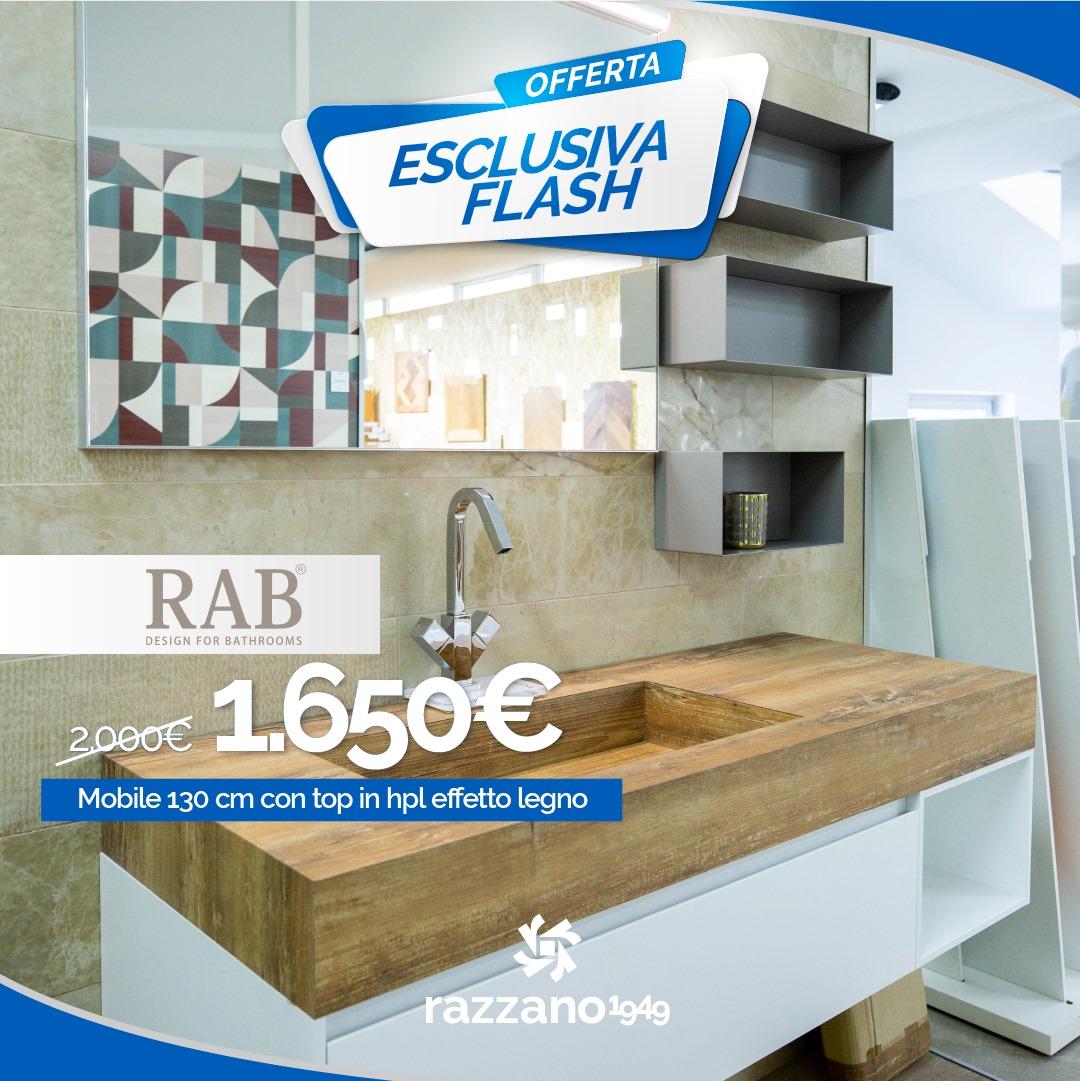 Mobile bagno con Top effetto legno