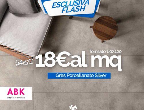 Offerta Pavimento Grès Porcellanato Silver ABK formato 60×120