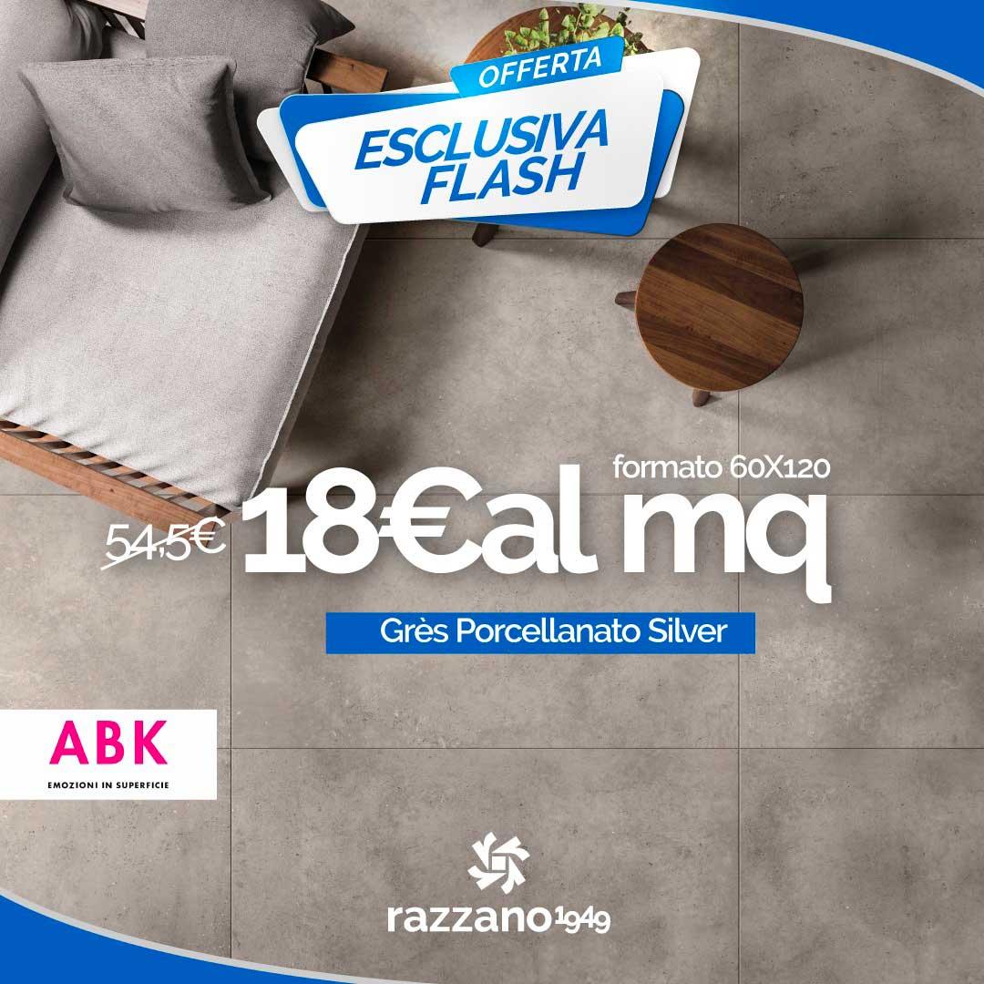 Offerta Pavimento Grès Porcellanato Silver ABK formato 60x120